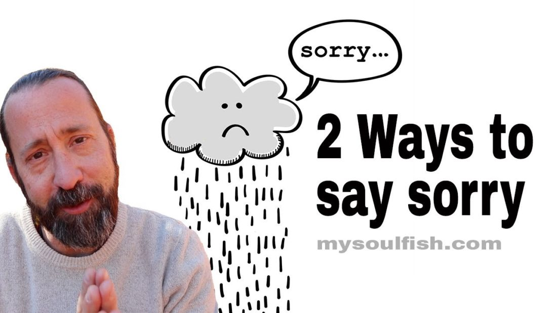 how to say you're sorry
