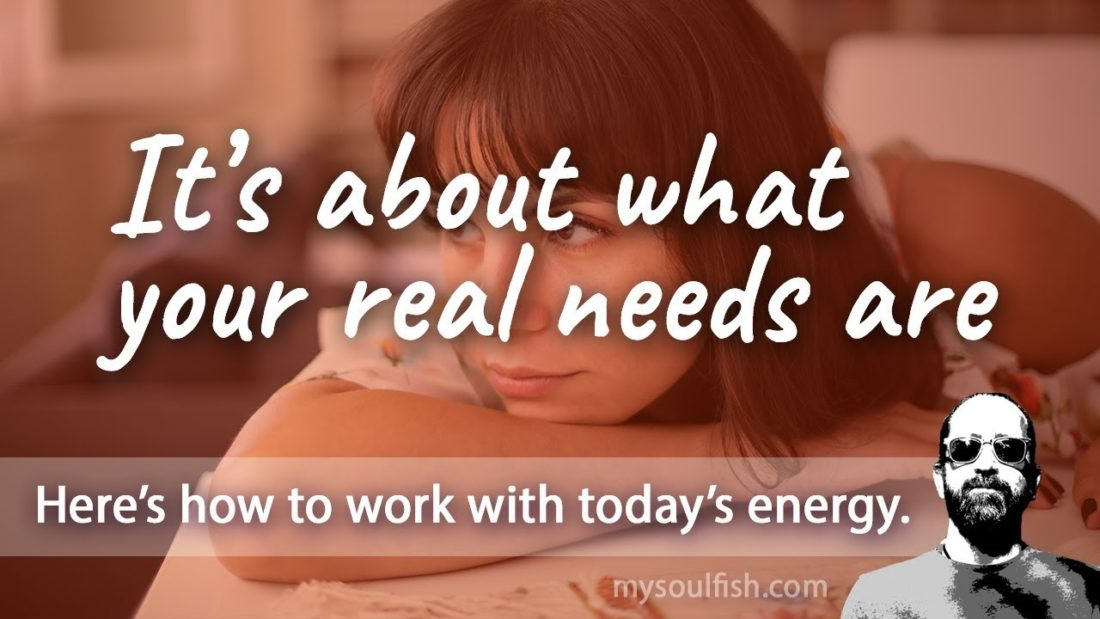 Today, it's about what your real needs are