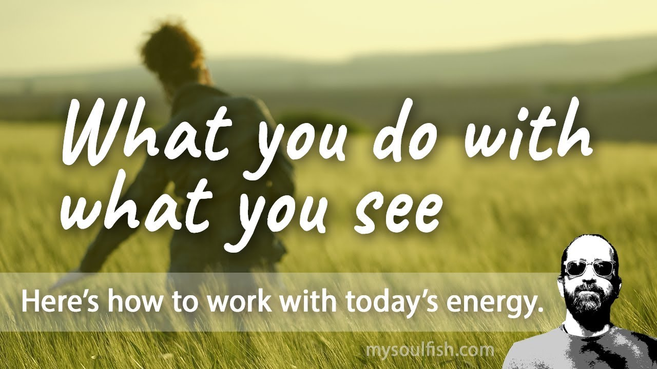 Today, what you do with what you see.